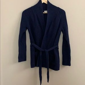 GAP Navy Cardigan with Removable Tie
